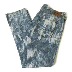 PRPS Demon Tie Dye Straight Leg Jeans Button Fly